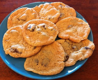 Glutenfrie choclate chip cookies