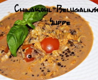 Chinakohl-Belugalinsen Suppe