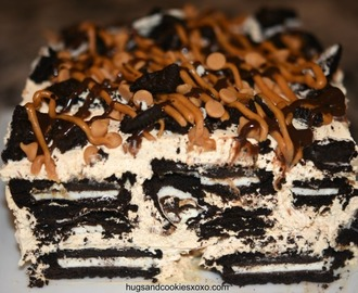 Peanut Butter Oreo Ice Box Cake