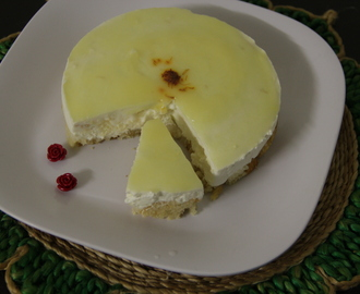 Eggless rasgulla cheesecake