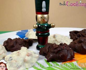 Rocas de chocolate con nueces pacanas