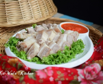 三层肉佐香辣蒜茸醋 ~ Pork Belly with Chilli Garlic Sauce