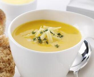 Recipe corner - Roasted squash and thyme soup with Gruyere