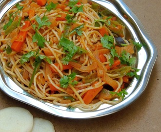 Tawa Noodles with Banana Stem/Vazhaithandu Noodles