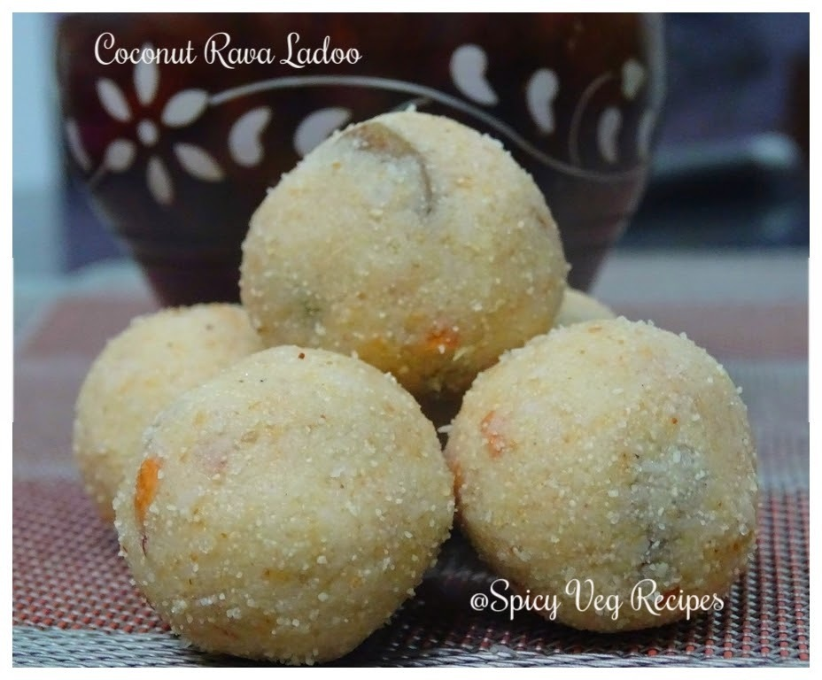 Rava coconut Ladoo(Semolina and coconut Laddu)(step by step with photo)