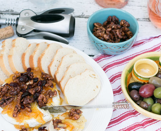 Baked Brie with Orange Marmalade, Walnuts & Cranberries