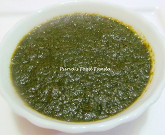 Mint Chutney or Green Chutney for Chat Recipes