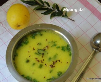 Moong Dal Recipe in Udupi Style