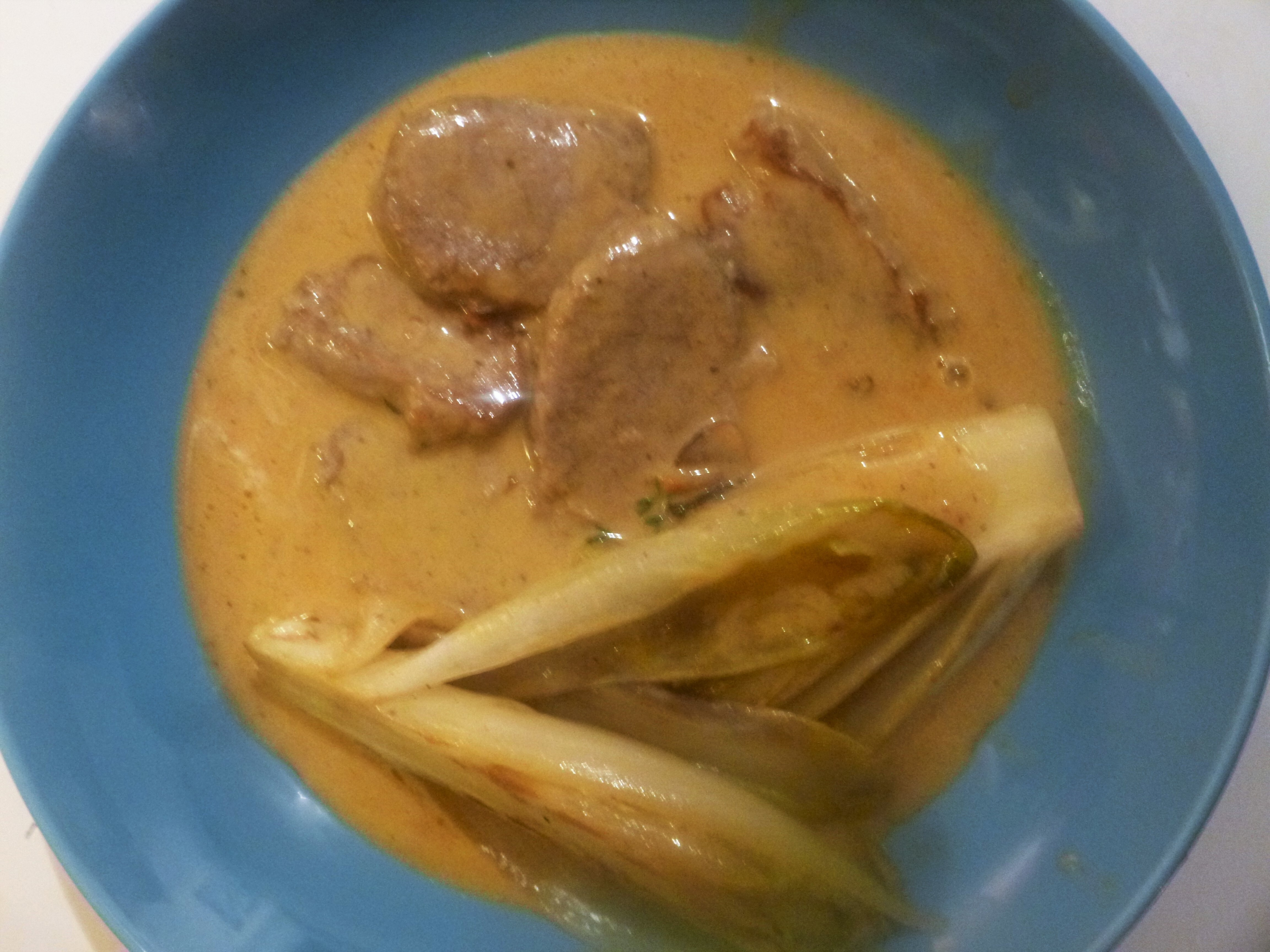 Pork Fillet and Endives in a Sweet Creamy Sauce Recipe
