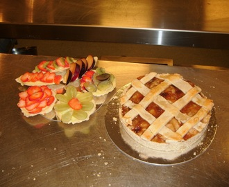 My First Pastry Class: Dutch Apple Pie and Fruit Tartlets/Barquettes