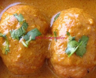 Aloo Methi  Kofta (meat balls) Curry (Without Cream)