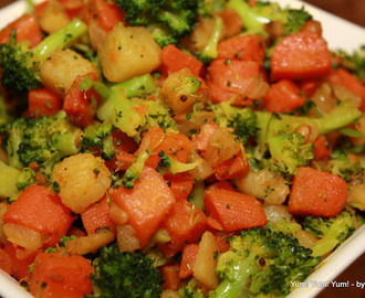Carrot, Potato, Broccoli Fry