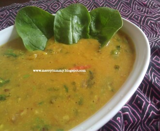 Spinach Yellow Daal/ Palak Daal