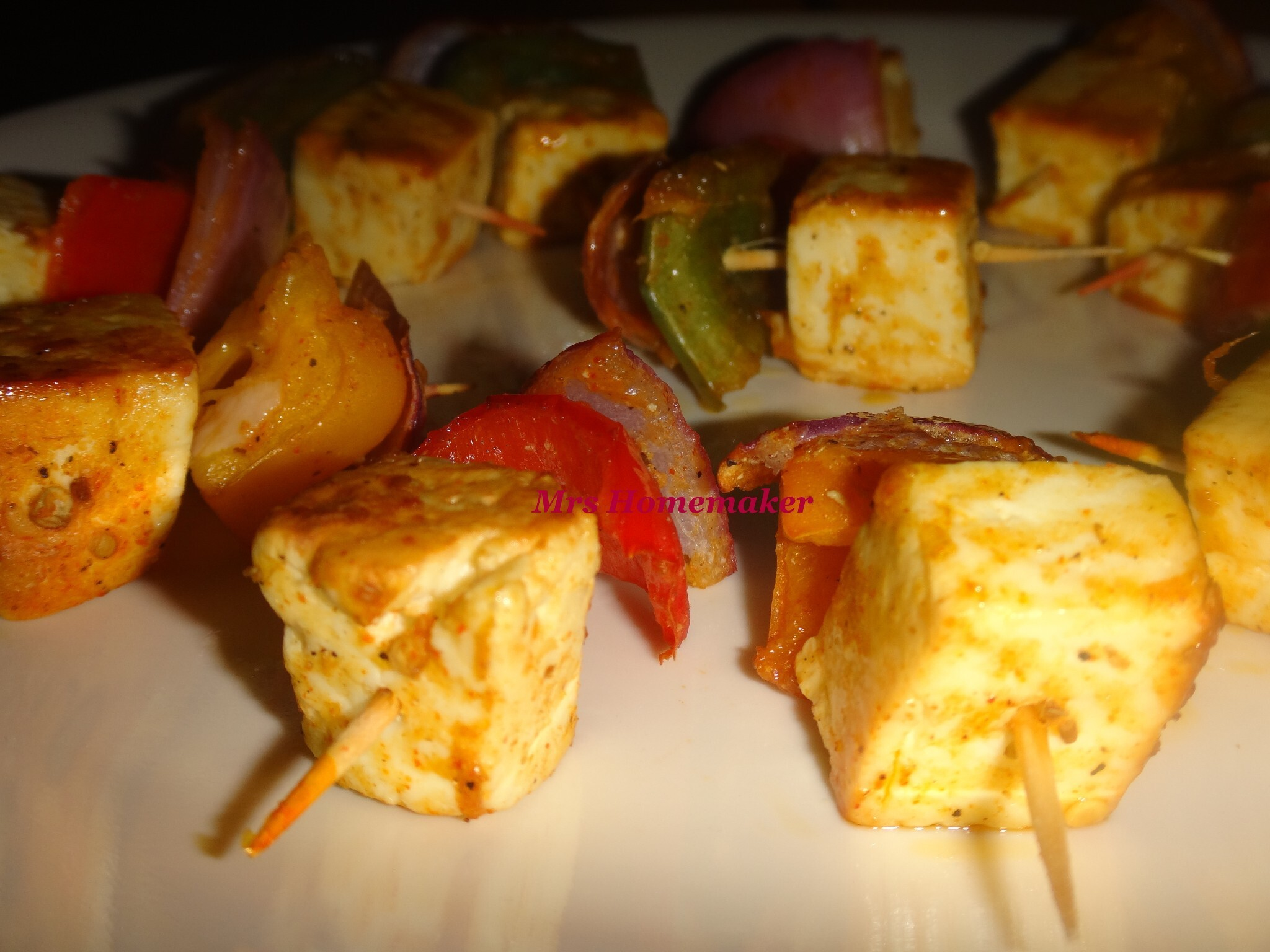 Paneer Tikka Dry  / Kabab (In oven & Frying Pan)