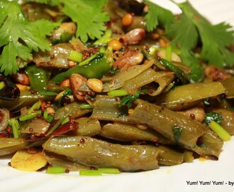 Chikkudu Kaya Vepudu ~ Indian Broad Beans Stir Fry