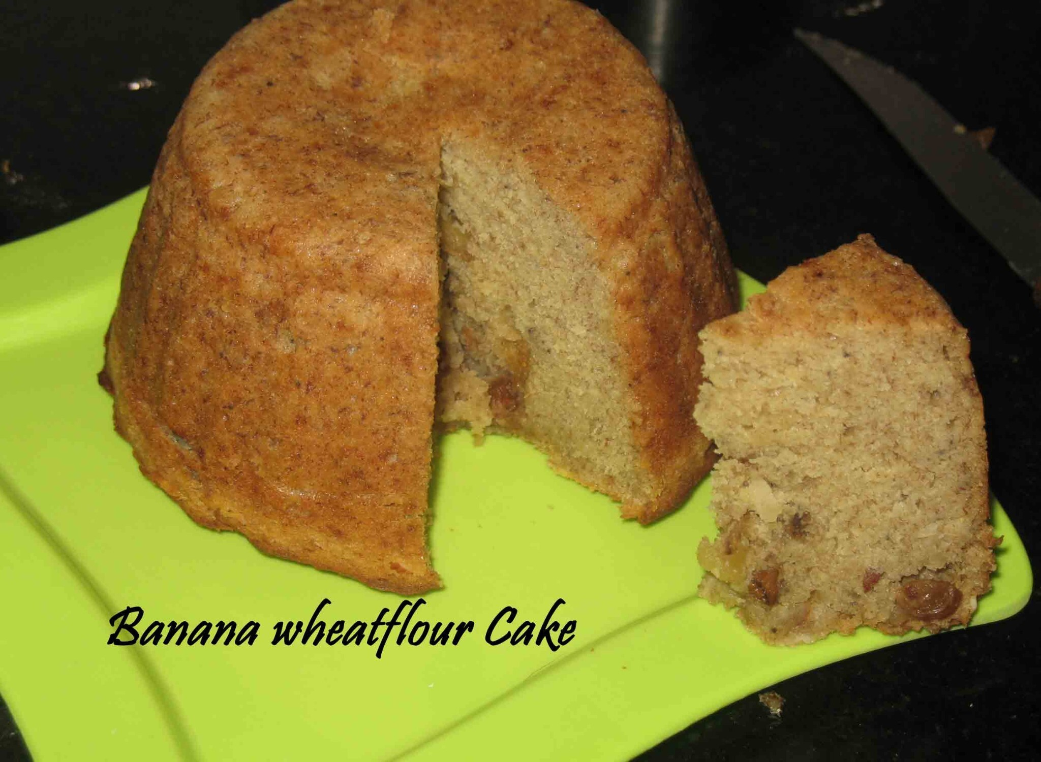 Banana Wheat flour cake/ Banana wheat flour bread