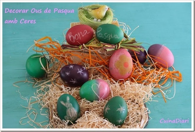 DECORAR OUS DE PASQUA AMB COLORANTS I CERES