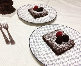 Brownies de chocolate e nozes