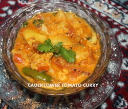 Cauliflower tomato curry recipe