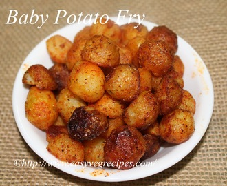 Baby Potato Fry Recipe -- How to make Baby Potato Fry