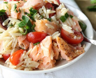 Fresh Tomato, Salmon and Kalamata Orzo