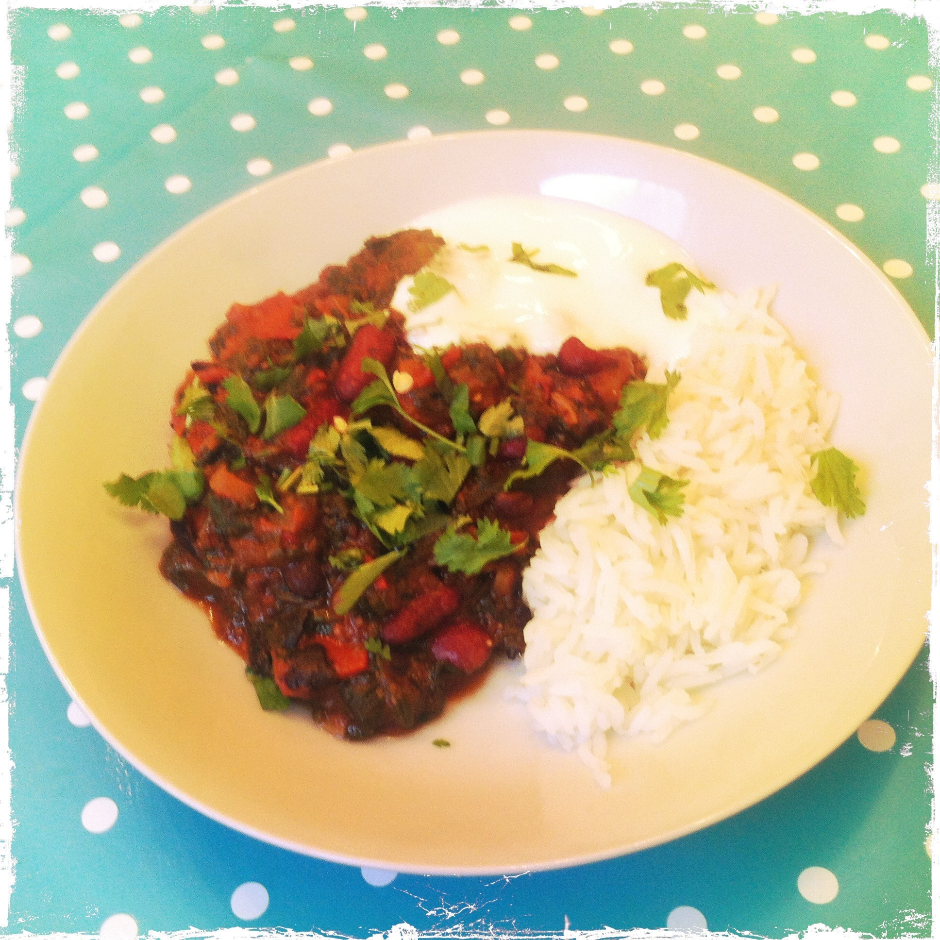 Vegetarian 5:2 Recipe: A comforting Bean Chilli after a heavy weekend.