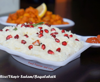 CURD RICE RECIPE/ THAYIR SADAM RECIPE/BAGALABATH