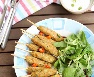 Minced pork cocktail kebabs