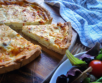 * Chicken, Sweetcorn and Red Pepper Quiche
