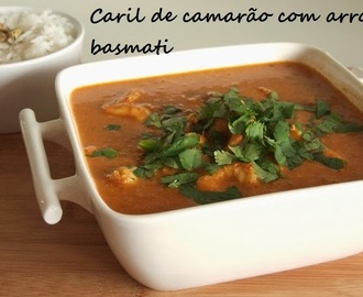 Caril de camarão com arroz basmati / Prawn curry with basmati rice