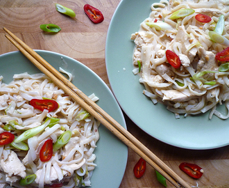 * Chilli Coconut Chicken with Noodles