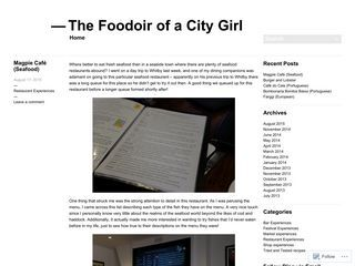 The Foodoir of a City Girl