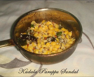 Day 5#: Channa Dhal Sundal / Kadalaparuppu Sundal | Navarathiri recipes