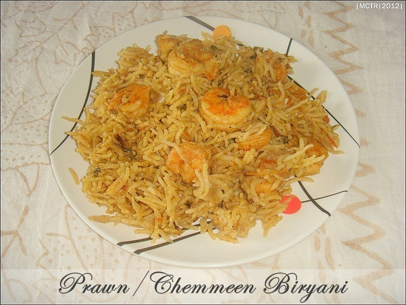 Prawn Biryani / Chemmeen Biryani / Shrimp Biryani ~ Pressure Cooker Version