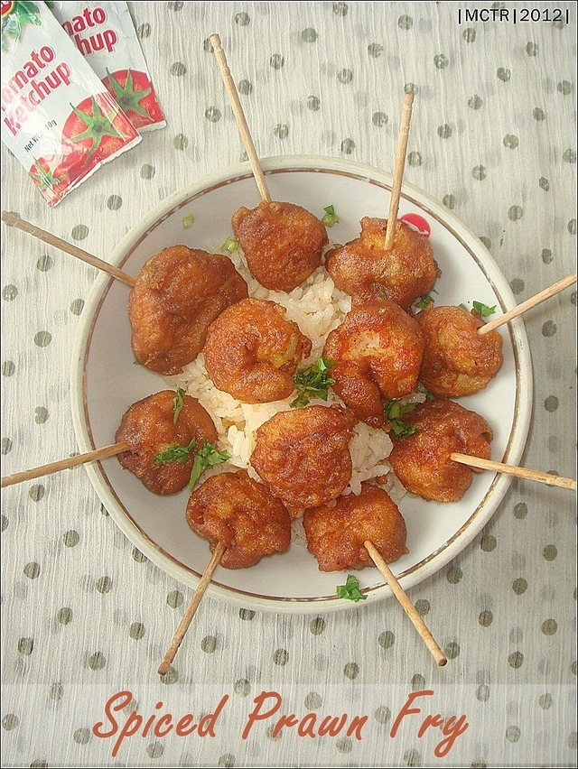 Spicy,Battered Prawn Fry ~ a perfect party pleaser