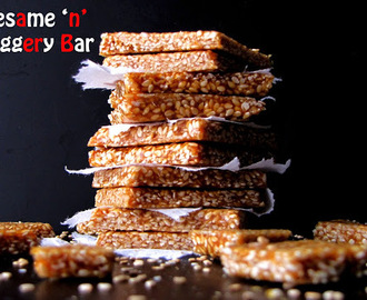 Seasame And Jaggery Bars/Til Chikki Recipe