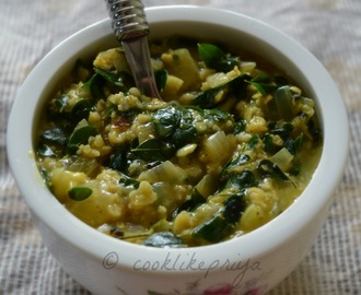 Keerai Masala Oats | Oats Porridge with Drumstick Leaves