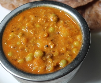 Aloo Peas Curry Recipe / Aloo Matar Recipe - Jain Version