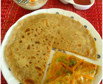 Pizza Paratha Recipe | Stuffed Paratha