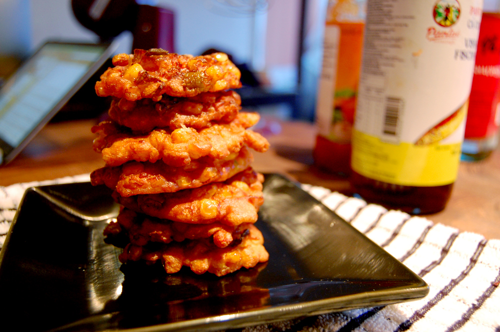Sweet & Spicy Corn Fritters