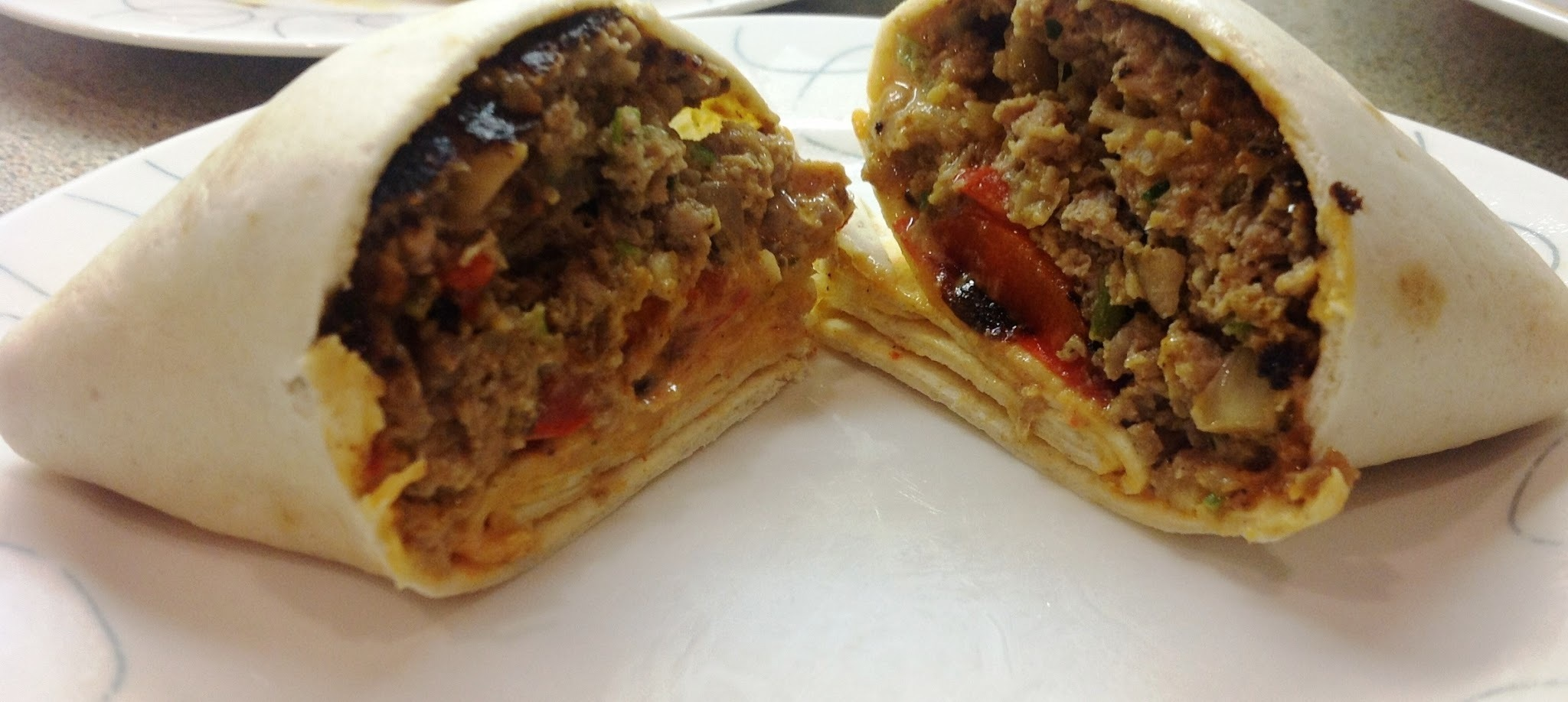 Moroccan Lamb Burger Wraps