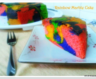 ^ FATHER'S DAY SPECIAL ~ RAINBOW MARBLE CAKE ^