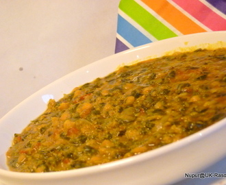 Palak Chana : Spinach Gram dal curry