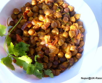 Sprouted Kala Chana Chaat / Sprouted black chickpea Salad