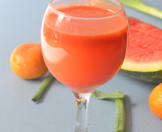 Thirst quenching drink - Watermelon Carrot juice