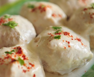 Dahi Vade/Dahi Bhalle/Deep fried lentil dumplings in yogurt