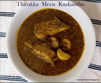 Thirukkai Meen Kuzhambu / Sting Ray Fish Curry