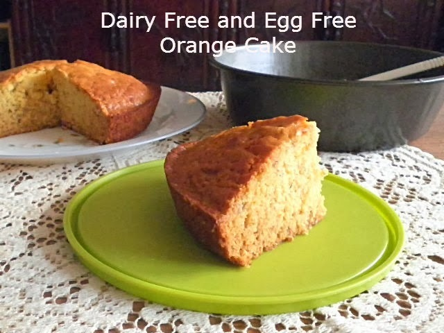DAIRY FREE AND EGG FREE ORANGE CAKE