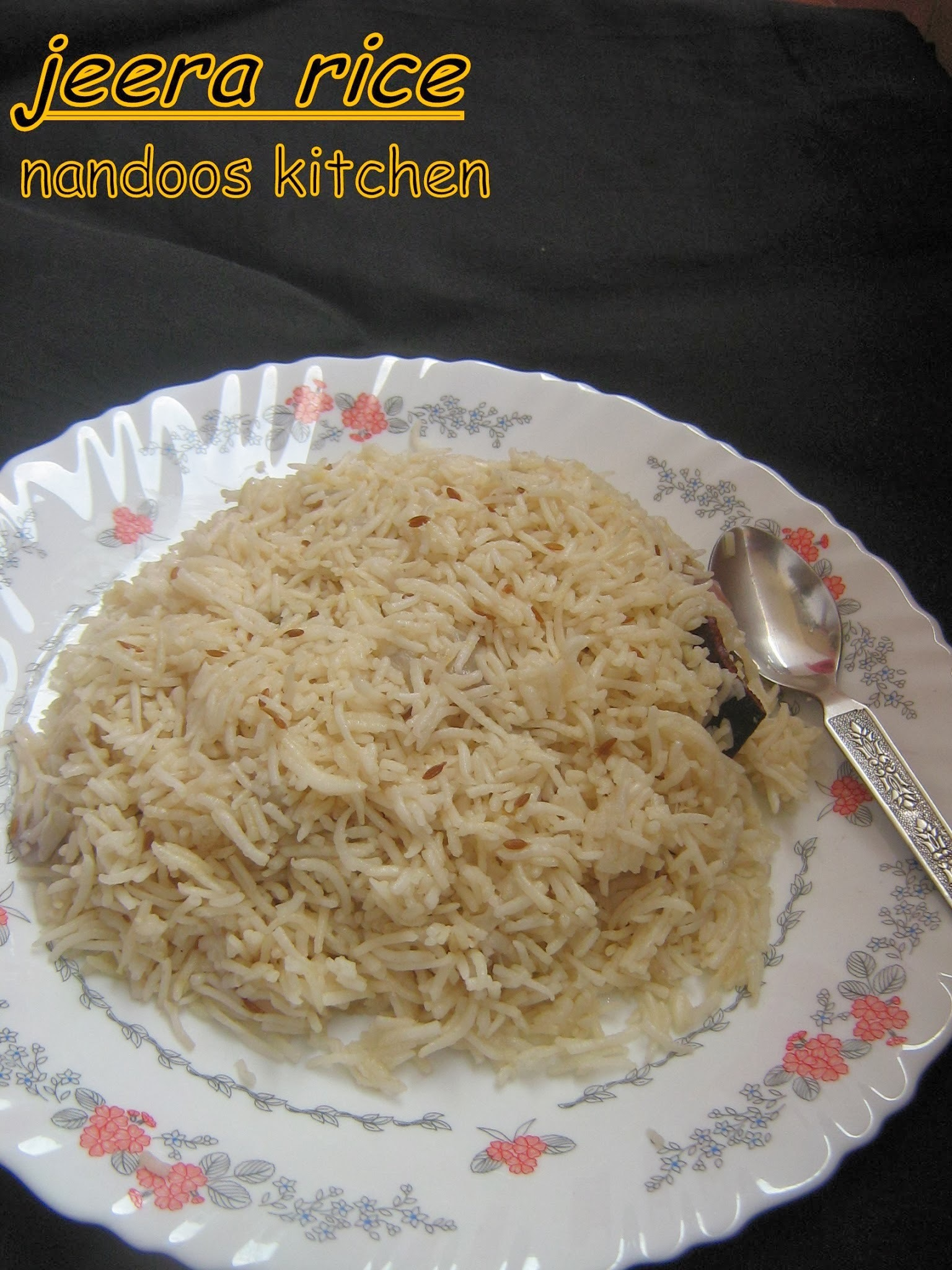 Jeera rice / jeera pulao / Easy lunch box recipes