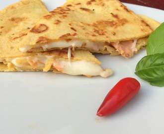 Quesadillas m. laks og ost